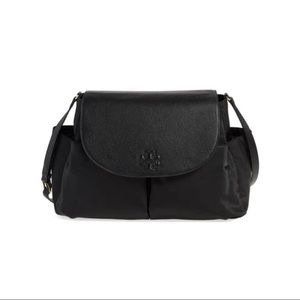Tory Burch Thea Messenger Diaper Bag W/ Leather